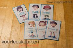 Voorleeskaarten: wie wat waar probleem oplossing luister goed - jufBianca.nl - interactief voorlezen - betrokkenheid