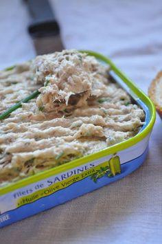 rillettes de sardines ultra simples - Blog cuisine avec du chocolat ou Thermomix mais pas que
