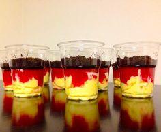 Rezept EM/WM Dessert - Deutschland - Schwarz Rot Gold von Dietzeridu - Rezept der Kategorie Desserts
