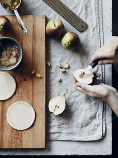 sara-white:    Pear tarts by Nikole on Oh Joy.