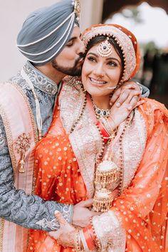 Zaby + PJ // Arizona Sikh Wedding by Ushna Khan Photography Wedding Outfits For Groom, Indian Wedding Outfits, Bridal Outfits, Wedding Suits, Wedding Attire, Indian Weddings, Wedding Lehnga, Wedding Sherwani, Sikh Wedding