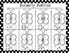 (sample game page) Kindergarten End of the Year MATH Games {Fluttering off to First Grade.) $