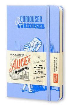 Джобен син тефтер Moleskine Alice's Adventures in Wonderland на топ цена — Orange Center