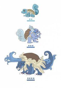 Squirtle, Wartortle y Blastoise
