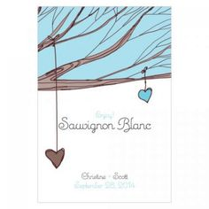 Personalized Wine Bottle Labels - Heart Strings Wine Label (3 Colors) [1064-14 Buy Wine Bottle Label] : Wholesale Wedding Supplies, Discount Wedding Favors, Party Favors, and Bulk Event Supplies