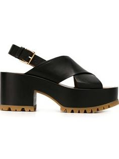 crossover strap sandals    $766 #Farfetch #love #marni