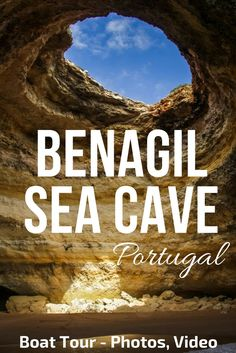 Portugal Algarve - Benagil Cave is the most famous sea cave on the Algarve Coast - Photos and video of the awesome Boat trip that take you there and to many other Stunning caves     ** Portugal Travel | Portugal beach | Portugal things to do | Algarve Bea