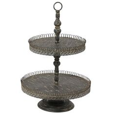 sc 1 st  Pinterest & Octavin 2 Tier Cake Stand Black | Tiered cake stands and Products