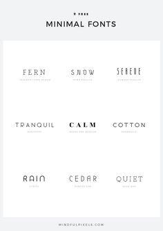 9 Free Minimal Fonts — Mindful Pixels Fonts and typography - TYPOgrafie - Logo Inspiration, Inspiration Typographie, Web Design, Good Design, 2020 Design, Type Design, Design Trends, Minimal Font, Minimal Style