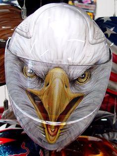 Custom Painted Screaming Eagle Helmet