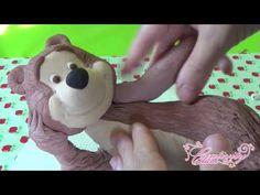 Tutorial masha and the bear cake topper masha e l'orso torte pasta zucchero fondant porcelana fria - YouTube