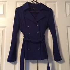 F21 Blue Peacoat F21 Blue Peacoat, with functional side pockets, size M Forever 21 Jackets & Coats Pea Coats