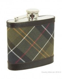 Barbour Hip Flask - Classic Tartan | Dark Brown UAC0007BR11 (B276)
