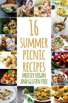 A sweet little collection of 16 summer picnic recipes to inspire you to get creative in the kitchen then get out of the house. Everything here is pretty healthy, pretty easy, and so importantly in summer – pretty portable. Mostly vegan and gluten free (or with options). #vegan #glutenfree #vegetarian #dairyfree #refinedsugarfree #portable #healthy