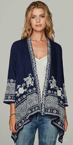Boho jacket Pattern / Simple patterns / SECOND STREET