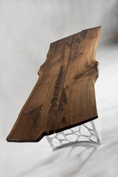 - Solid Walnut Table with chrome legs