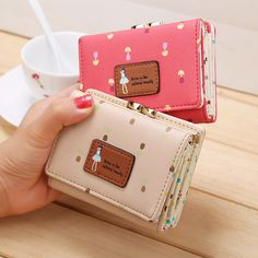 Japanese Mori Girl Preppy Style Lolita Elegant Small Wallet Sweet Change Purse