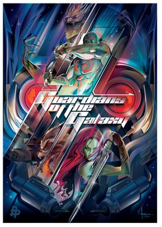 GUARDIANS of the GALAXY -Vector Tribute by Orlando Arocena, click to see the work behind this vector via Behance
