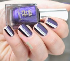 A england the blessed damozel and merlin striped nailart