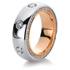 CHERRY CHAN Rose Gold Ring with Brilliant Cut Diamonds | UDOZZO
