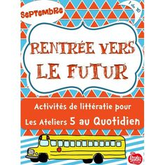 """""""""""A+ Atelier 5 au Quotidien: Rentrée Core French, Becoming A Teacher, Back To School, Teaching, Personalized Items, Cycle 1, Teacher Stuff, School Ideas, Learning"""