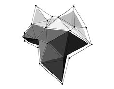 """Check out new work on my @Behance portfolio: """"Greyscale Heart - Low Poly"""" http://be.net/gallery/53668669/Greyscale-Heart-Low-Poly"""