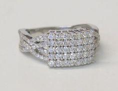 Brillant-Ring, 750 Weißgold6 Gramm. 149 Brillanten, 1,57 ct., w/si. Ringgröße: 54 — Schmuck