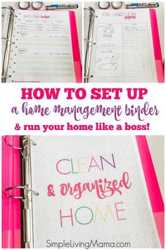 Learn how to make a home binder with these cute home management printables! #homebinder #homemakingbinder #homemanagement