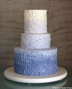 I am having an Ombre cake like this!!!! except it will be green white and orange