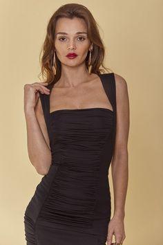 Womens Ladies Rare Abbey Clancy Black Midi Cut Out Sleevless Bodycon Dress Ponte