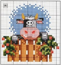 A Vaquinha da Semana / The Little Cow of the Week : Esquema de Ponto Cruz com Vacas / Scheme for Cross Stitch with Cows Cross Stitch Cow, Butterfly Cross Stitch, Cross Stitch Needles, Cross Stitch Cards, Cross Stitch Animals, Counted Cross Stitch Patterns, Cross Stitching, Embroidery Art, Cross Stitch Embroidery