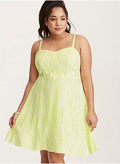 "<div>Planning a beach getaway? You won't think twice about packing this tank dress first. The white challis style is bound for a perma-vacation with an electrifying lime green feather print. The sweetheart neckline is a form-fitting answer to the smocked back.</div><div><br></div><div><b>Model is 5'10"", size 1</b></div><div><ul><li style=""list-style-position: inside !important; list-style-type: disc !important"">Size 1 measures 41"" from shoulder</li><li style=""list-style-position: ins"