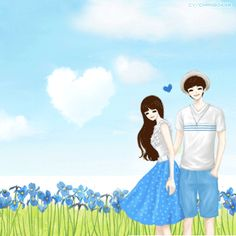 싸이스킨배경 : 네이버 블로그 Cute Couple Cartoon, Anime Love Couple, Couple Dps, Anime Couples, Cute Couples, Sweet Couples, Fantasy Love, Fantasy Art, Lovely Girl Image