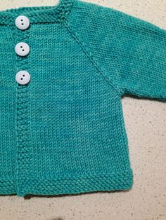 Newborn top down cardi, pattern in pdf