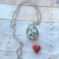 "36"" long ""love you more"" necklace"