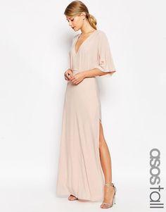 Image 1 ofASOS TALL Kimono Plunge Maxi Dress