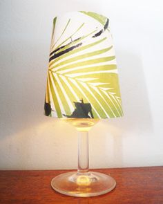 Image of Candle lampshade - plant