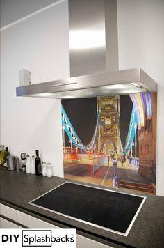Glass Splashbacks for Kitchens Printed Glass Splashbacks, London Bridge, Capital City, Prints, Inspiration, Design, Biblical Inspiration, Printed, Art Print