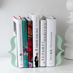 Bookends - Brackets (mint green) - laser cut for precision out of metal thick enough to hold a bunch of books. (€34.00) - Svpply
