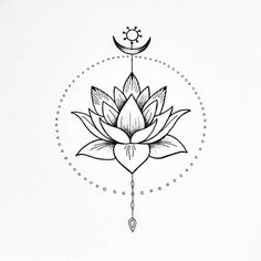 The Lotus flower. Peace and harmony illustration. The Lotus flower. Peace and harmony illustration. The Lotus flower. Peace and Unalome Tattoo, Dotwork Tattoo Mandala, Lotus Tattoo Design, Flower Tattoo Designs, Lotus Flower Design, Cute Tattoos, Body Art Tattoos, Small Tattoos, Sweet Tattoos