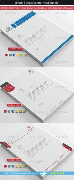 Clean Simple Business Letterhead Bundle