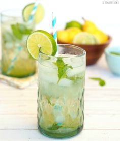 Minty Pear Mojito | Cookie Rookie