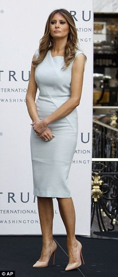 Make like Melania in a Roland Mouret cocktail dress #DailyMail