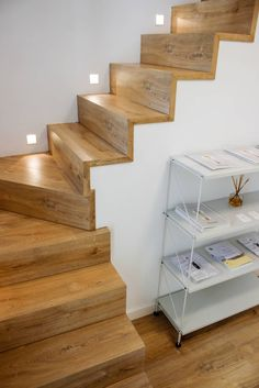 When you find yourself trying to decide upon a design and layout for your home staircase, it can be more than a bit of a challenge to pick something ple. Home Stairs Design, Interior Stairs, Home Interior Design, House Design, Staircase Lighting Ideas, Stairway Lighting, House Staircase, Staircase Remodel, Bungalow Haus Design