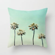 Palm Tree Photography Couch Throw Pillow by Bree Madden - Cover x with pillow insert - Indoor Pillow Cute Pillows, Diy Pillows, Throw Pillows, Rustic Decorative Pillows, Living Room Decor Pillows, Silver Pillows, Pillow Arrangement, Bedroom Paint Colors, Textiles