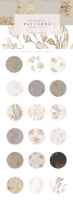 Floral Illustrations & Patterns by Laras Wonderland on @creativemarket