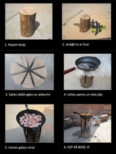 Creative cooking outdoors . This is great !!!!!
