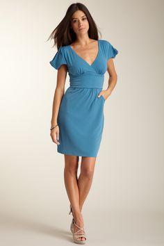 Guess Jersey V-Neck Dress