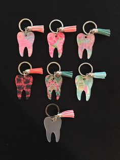 From Dental Hygiene Tooth Keychains! From Monogram Tooth Decal