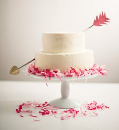 Straight through the heart and into our stomachs! Cupid's Arrow #Cake. #food #recipe